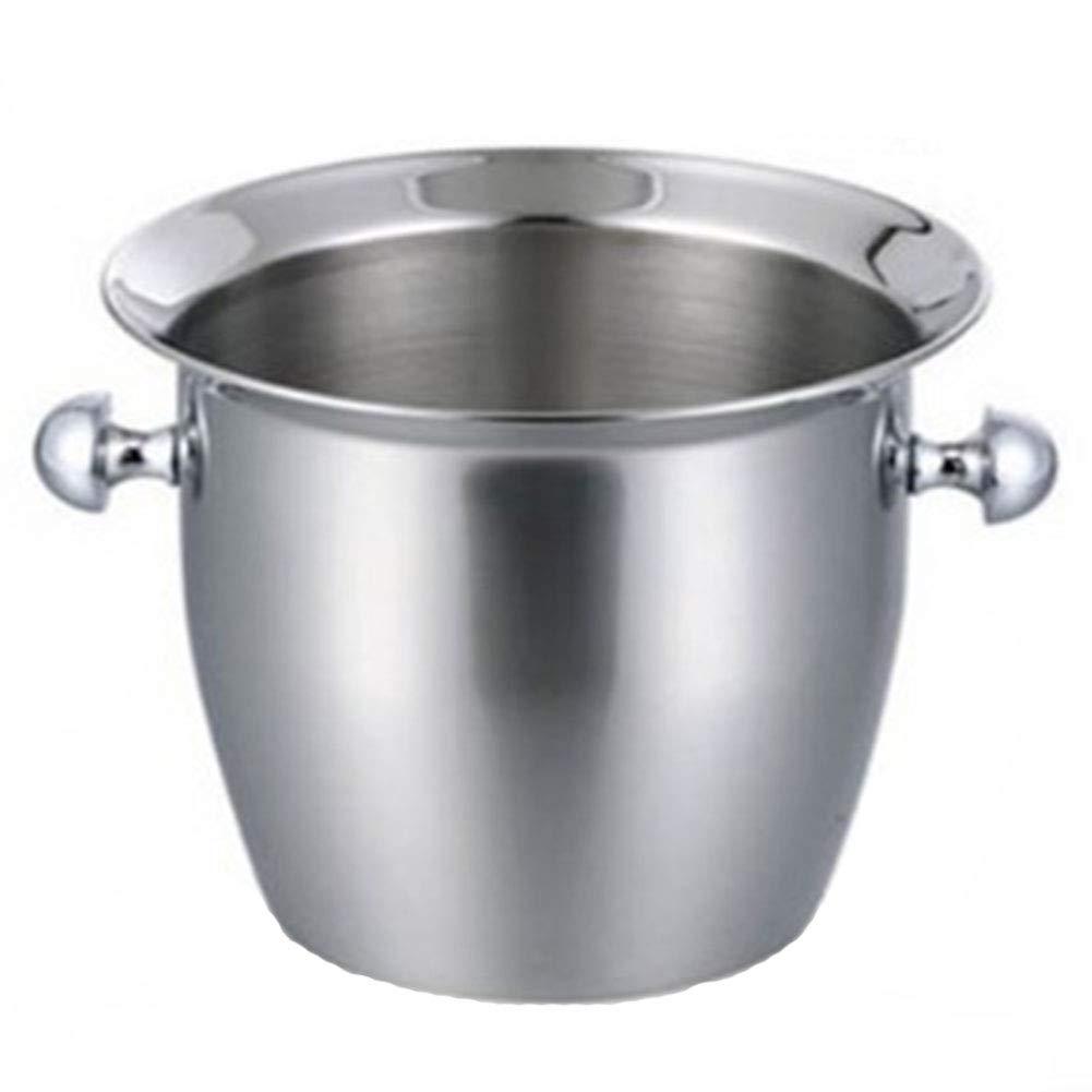 RANRANHOME Stainless Steel ice Bucket Champagne Bucket Thick Grape Wine Barrel Hotel bar KTV