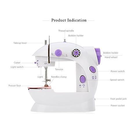 无 Mini Botones automáticos de Doble Velocidad para la Costura automática de la Máquina de Coser: Amazon.es: Hogar