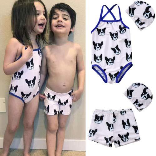 Girl 6T GENERIC CUSHY Kid Girl Boy 2pc Doggie wimuit wimwear ie Kid wim Hort Hat wimming Bikini Beachwear