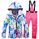 OLEK Women Ski Jackets High Technology Waterproof Snowboard Coats and Pants Set