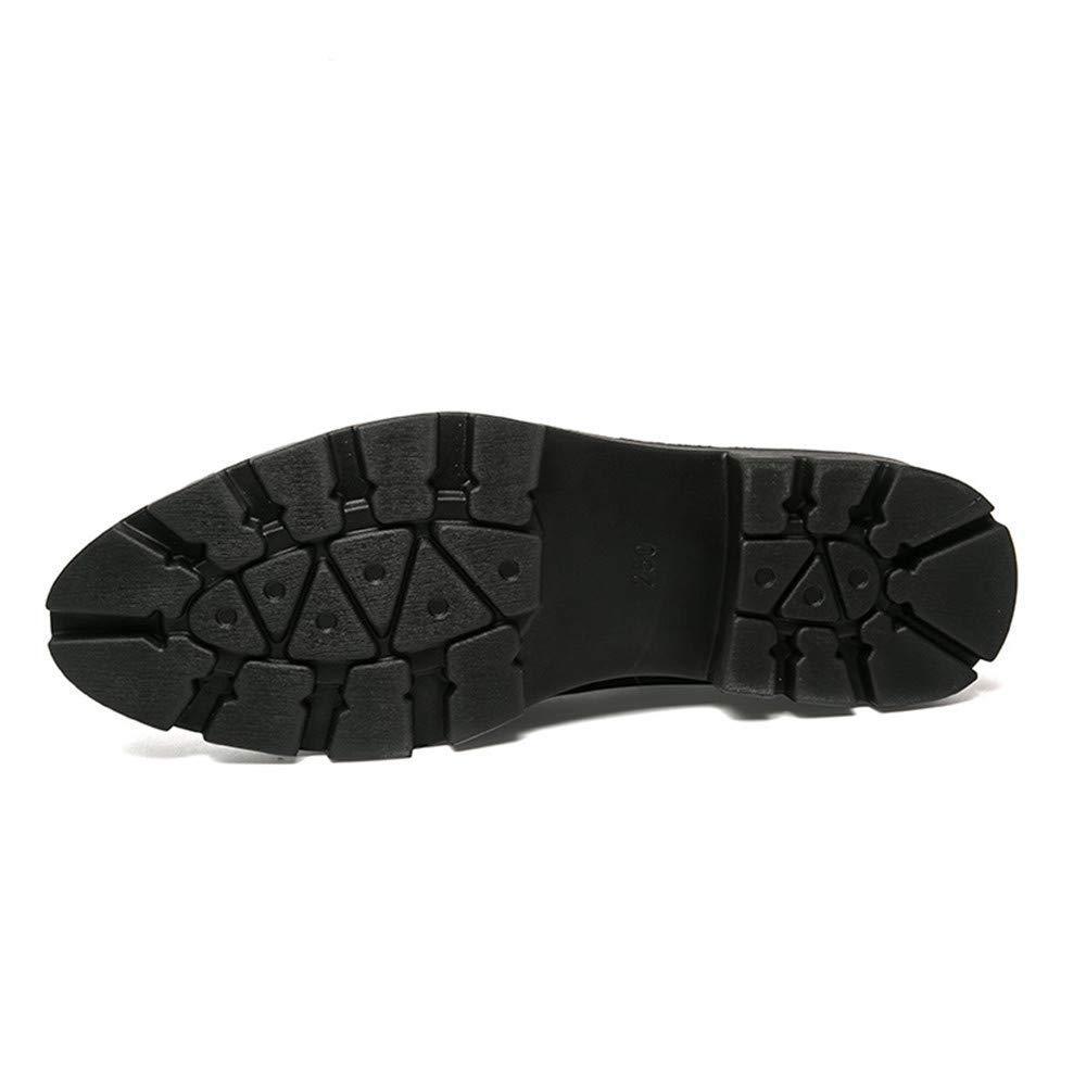 Oudan Herren Stiefeletten, Lässige Mode Avantgarde High-Top-Krokodil Tattoo Trend Trend Trend Lackleder Formelle Schuhe (Farbe   Schwarz, Größe   38 EU) (Farbe   Schwarz, Größe   40 EU) db89e9