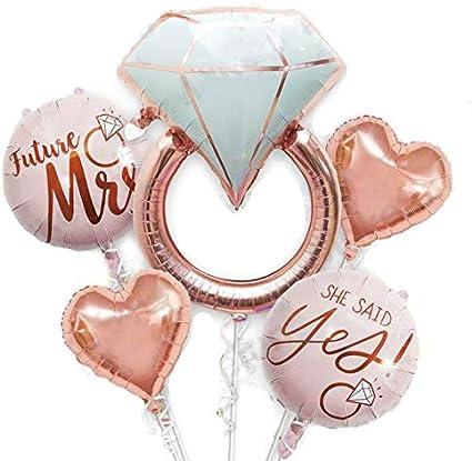 Ring Balloon I said Yes Photo Prop She said yes Gold Ring Gold Ring Balloon She said Yes,Engagement Ring Balloon Bridal Shower Balloon
