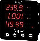 A100-Digital Panel Meter, Three Phase, AMIK 100 Series, 40 to 300 Vac/dc