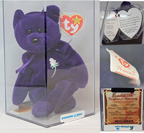 Ty Princess PVC Authenticated - MWMT MQ Rare Indonesian VAR Beanie Baby