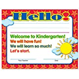 Welcome to Kindergarten Certificates 50 Pack | Elementary School Classroom Supplies for Teachers | By Teacher Peach