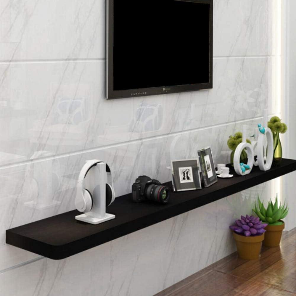 Willesego - Estante de madera maciza para la televisión, para el salón, para colgar en la pared, marco decorativo, 4 tamaños (color: negro, tamaño: 120 x 25 x 2,5 cm), Negro, 60 * 25 * 2.5cm: Amazon.es: Hogar