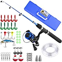 Kids Fishing Pole,Light and Portable Telescopic Fishing...