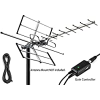 pingbingding Outdoor Antenna Digital Amplified HDTV Antenna with Adjustable Amplifier and 32FT Coaxial Cable, 120 Miles Range, Extremely High Performance for UHF and VHF