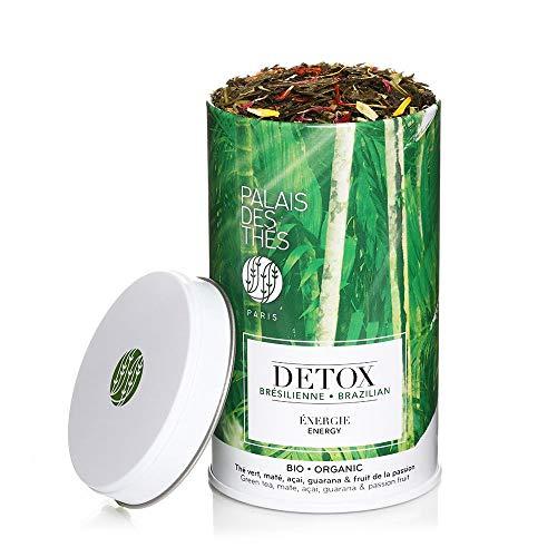Palais des Thés Organic Brazilian Detox Green Tea Blend for Energy, 3.5oz Metal Tin
