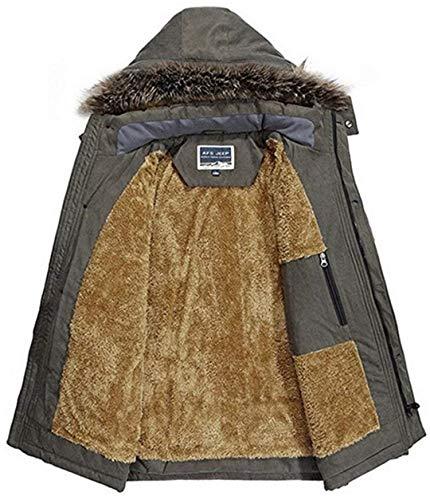 Uomo Uomo Pagliaccetti Armee Grün Winter Winter Coat Jacket Jacket Jacket Jacket da Coat Coat Kapuzenparka Stile Winter Semplice Lanceyy Hooded Parka Jacket Mens Calore qptwEcRgxC