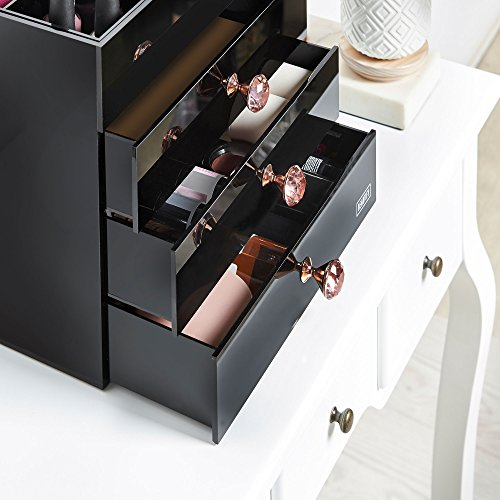 Beautify Large Black Acrylic Cosmetic Makeup Organizer