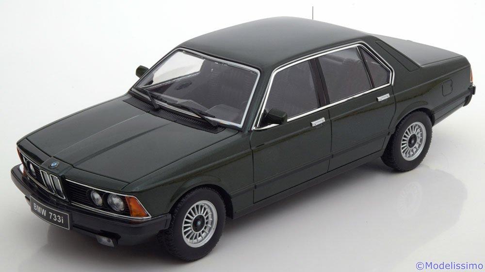 BMW 733i (E23), metallic-dunkelgrün, 1977, Modellauto, Fertigmodell, KK-Scale 1 18