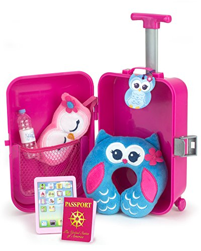 Doll Travel Play Set by Sophia's 7 Piece Doll Accessory Luggage Set...