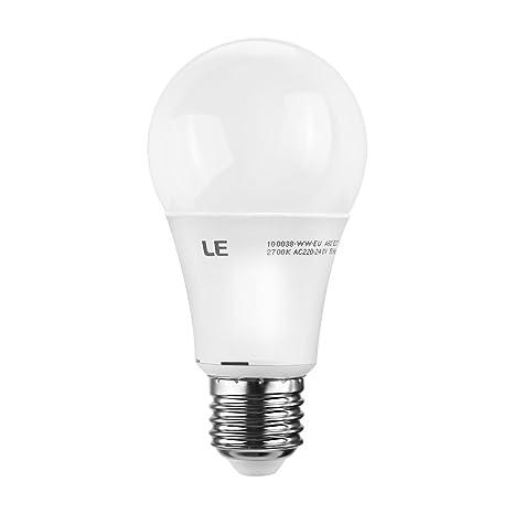 LE Bombilla LED Regulable 9.5W=60W Incandescente, 750lm, 2700K, Blanco Cálido