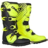 O'Neal Rider Boots (10) (Black/Hi-Viz,10)