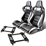 mustang seats - Pair of RSXL02WH Racing Seats+Mounting Bracket for Ford Mustang 5th Gen