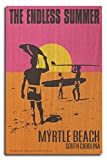 The Endless Summer - Original Movie Poster - Myrtle Beach, South Carolina (10x15 Wood Wall Sign, Wall Decor Ready to Hang)