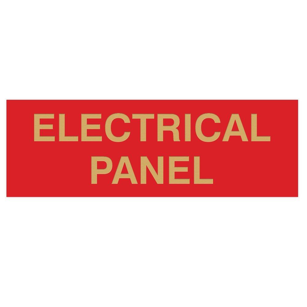 Electrical Panel Door//Wall Sign Medium Black