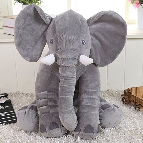 Amazon.com: Misslight Lovely Mini Elephant Stuffed Toy Cushion Plush Doll Shaped Perfect Decorative (Grey): Toys & Games