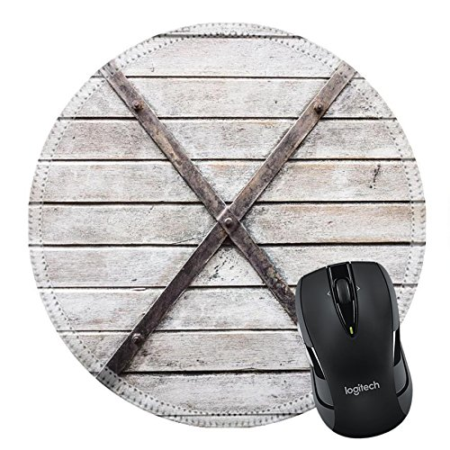 ousepad Round Mouse Pad 24360903 Vintage railroad container doors ()