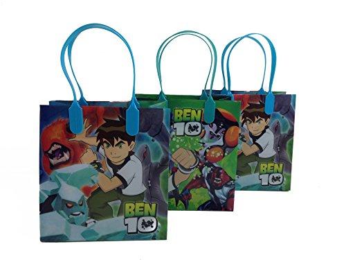 Disney Nickelodeon Marvel Birthday Goodies Gift Favor Bags Party Supplies - 12 Pieces (Ben 10 - (Ben 10 Party Supplies)