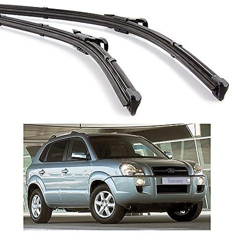 2pcs coche delantero parabrisas escobilla Bracketless para Hyundai Tucson 2005 - 2009: Amazon.es: Coche y moto