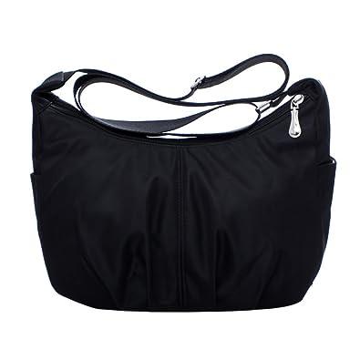 c6e620482067 Purse Terzsl Casual Women Nylon Waterproof Sling Shoulder Bag Large  Capacity Crossbody Bag - Black