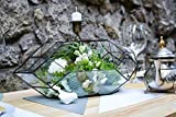 Stained glass Orchid Terrarium Rocket Wedding Box Geometric shape Home decor