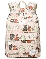 Kipten Casual Canvas Backpack Teen Girl School Backpack Handbag
