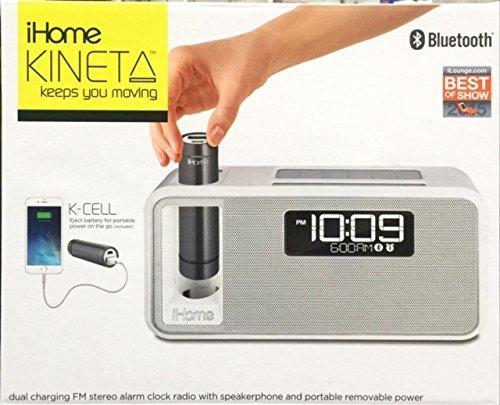 Ihome Kineta Dual Charging Stereo Alarm White