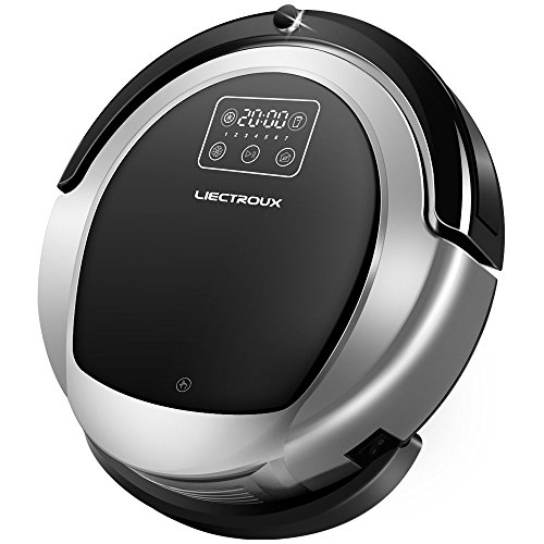 Liectroux B6009 Robot Vacuum Cleaner with Map Navigation, Memory, Voice Prompt, Adjustable Suction Mode, Twining -Proof Brush, 2 Way UV Light,3D Filter, Robot Mop with Water Tank