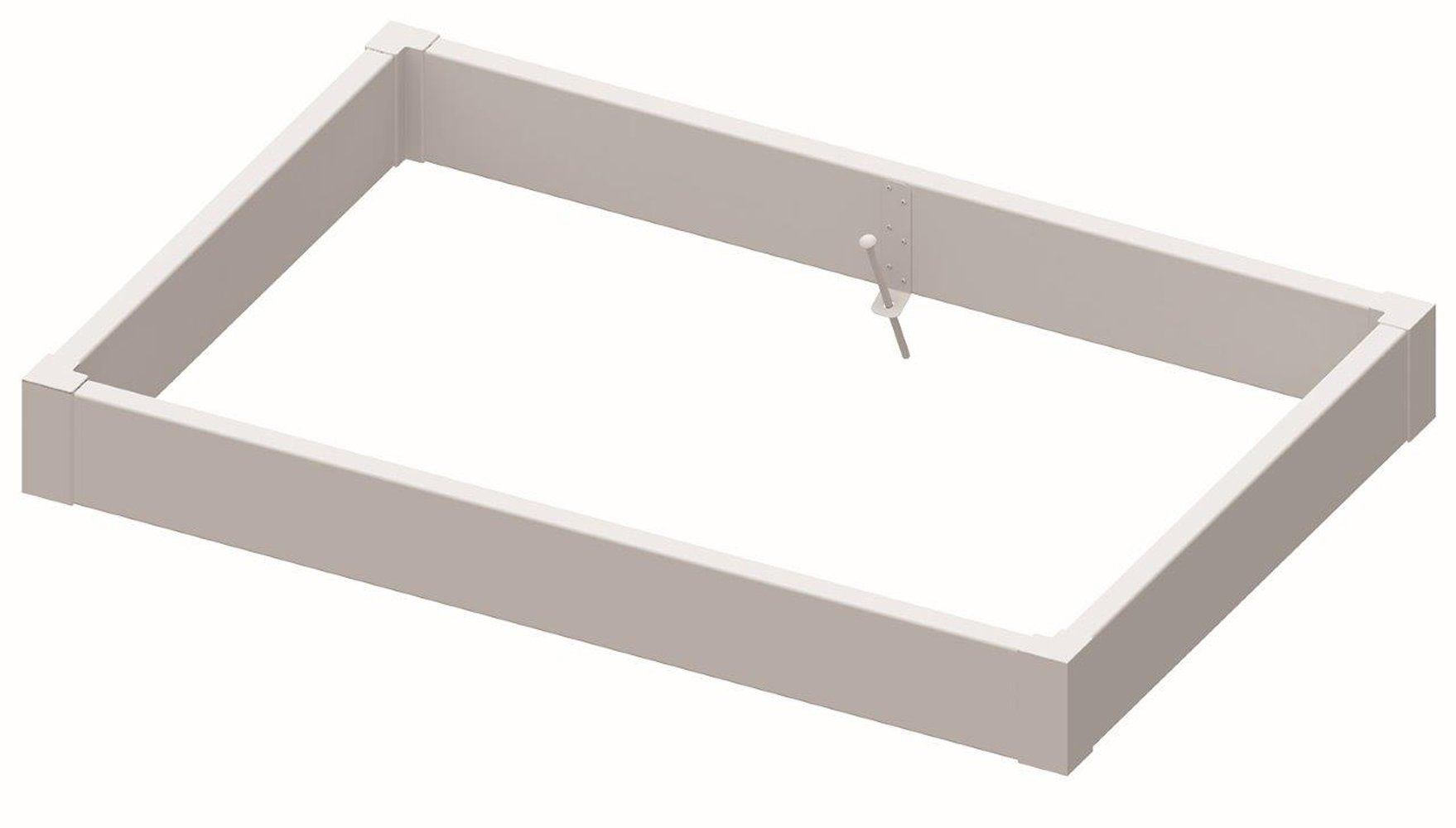 Superior Lawn and Garden 815604608 Raised Bed Kit, White by Superior Lawn and Garden