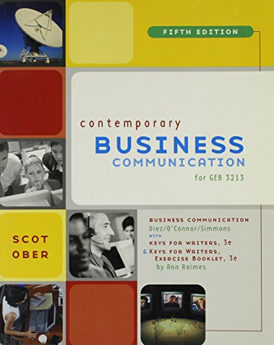 Business Communication, Fifth Edition, Custom Publication