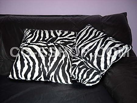 Cuscini Zebrati.Confezioni Giuliana Coppia Cuscini D Arredo Maculati Zebra