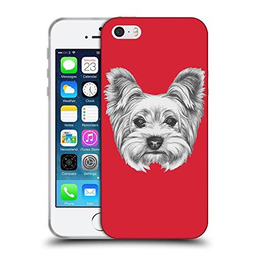 GoGoMobile Coque de Protection TPU Silicone Case pour // Q05120601 Chien dessin Alizarine // Apple iPhone 5 5S 5G SE