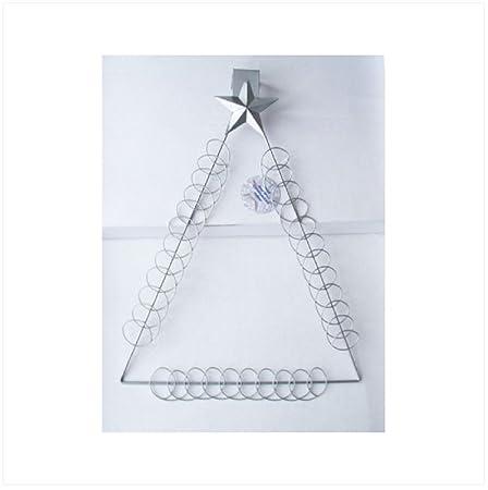 christmas card holder silver over door hanging amazon co uk