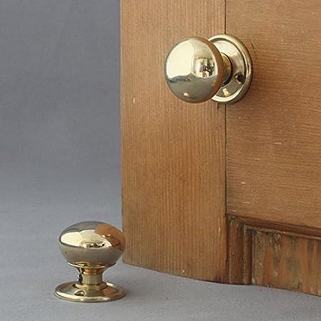 Georgian Small Brass Cottage Door Knobs: Amazon.co.uk: DIY & Tools