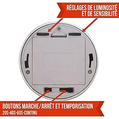 Coloris Détecteur Led Lampe France Mouvement Trois 6 Ce Norme ® De Infrarouge Linxor Nn0wOv8m