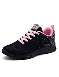 LIN&LV Women's Fitness Air Cushion Workout Trail Running Shoes Fashion Sport Gym Jogging Walking Sneakers