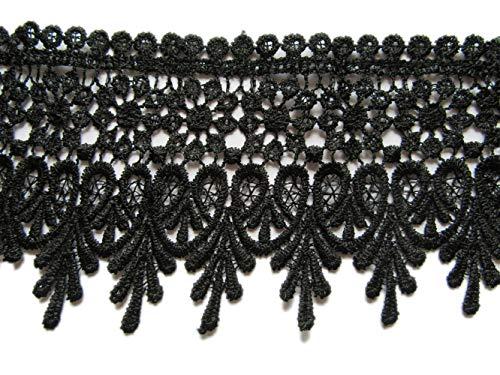 - YYCRAFT 5 Yards Black Lace Edge Trim Wedding Applique DIY Sewing Crafts(Width:3.5