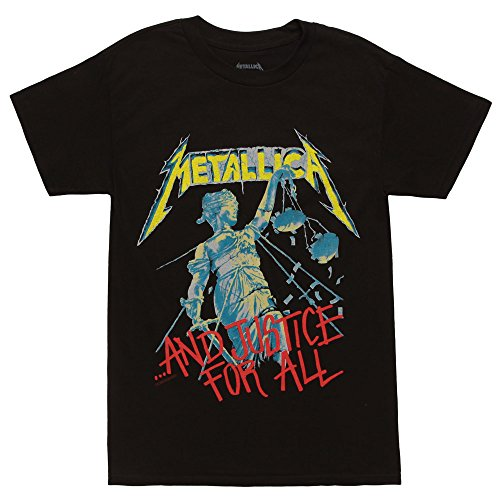 Bravado Men's Metallica Justice T Shirt, Black, Small