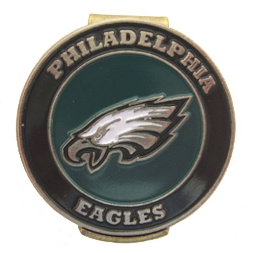 (Philadelphia Eagles Golf Hat Clip with Double Sided Ball Marker)