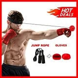 Boxing Reflex Ball Bundle With Headband, Gloves