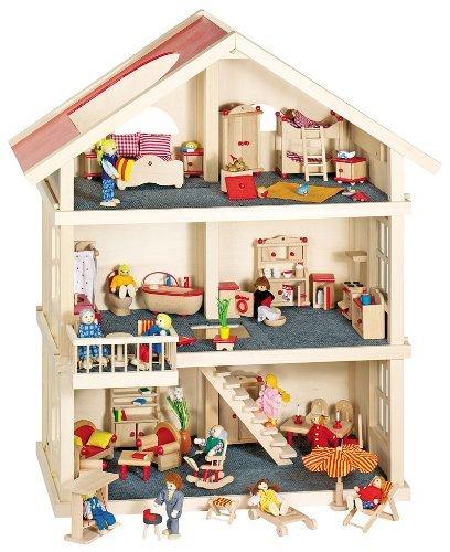 Goki Puppenhaus - Goki Puppenhaus mit Zubehör
