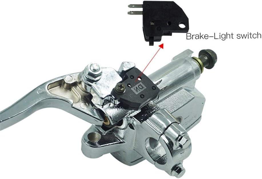 """Bremshebel L.W.SURL 7//8 /""""22mm Silber Motorrad Hauptbremszylinder Hydraulische Bremskupplungshebel-Pumpe for Yamaha Suzuki H o n d a Farbe : Left"""