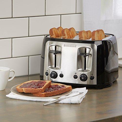 black decker tr1478bd 4 slice toaster bagel toaster black ebay. Black Bedroom Furniture Sets. Home Design Ideas