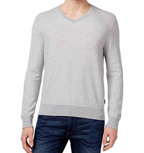 Men's Michael Kors Designer Long Sleeve V Neck Kit Sweater - Return Kors Michael Free