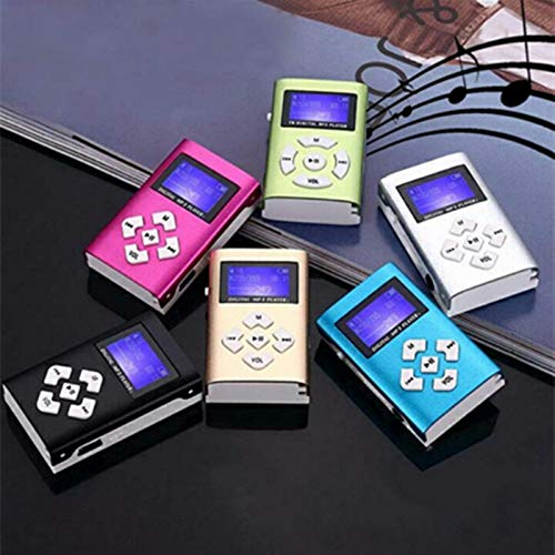 Gotian USB Mini MP3 Player LCD Screen Support 32GB SD TF Card , Listening Mucic Relaxing (Blue)