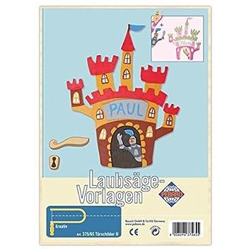 Matches21 Kinder Holz Laubsägevorlage Ritterburg Türschild Laubsäge