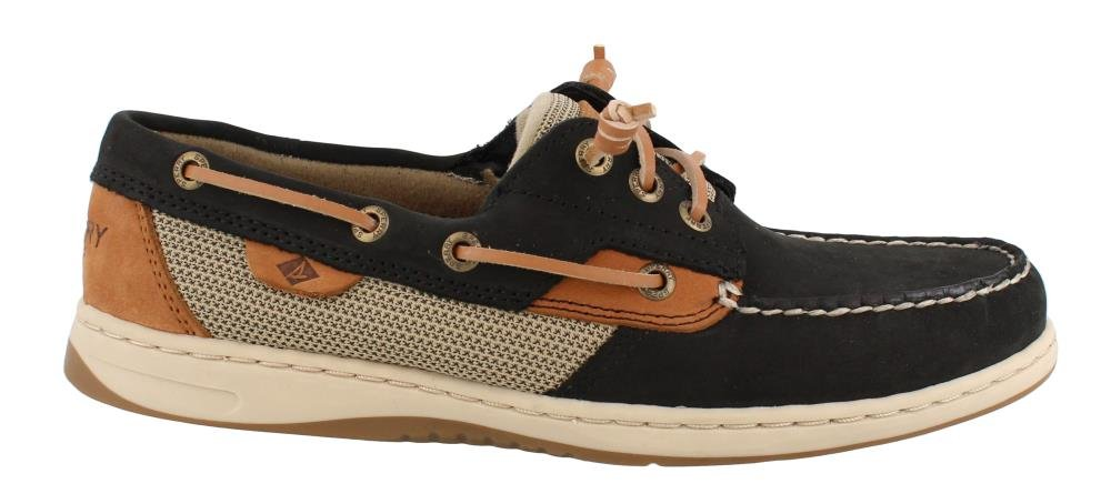 Sperry Women's, Rosefish Slip on Boat Shoe Black 5.5 M